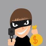 El ladrón está robando Foto de archivo