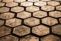 El ladrillo del piso de la textura Fotografía de archivo