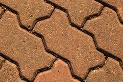 El ladrillo del piso de la textura Imagen de archivo