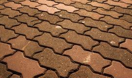El ladrillo del piso de la textura Imagenes de archivo