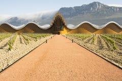 El lagar moderno de Ysios en Laguardia, país vasco, España Foto de archivo libre de regalías