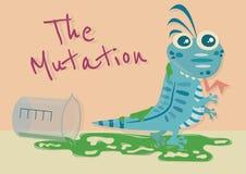 El lagarto de la casa de la mutación stock de ilustración