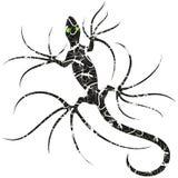 El lagarto de la salamandra modelado tatúa el vector Logo Illustration del estilo aislado en blanco libre illustration