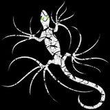 El lagarto de la salamandra modelado tatúa el vector Logo Illustration del estilo aislado en negro ilustración del vector