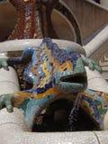 El lagarto en el parque Guell Imagen de archivo libre de regalías