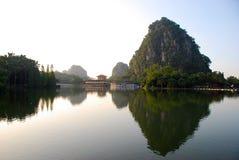 El lago 1 star (en Zhaoqing, China) Foto de archivo libre de regalías