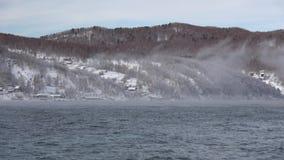 El lago Baikal en diciembre almacen de metraje de vídeo