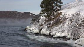 El lago Baikal en diciembre metrajes