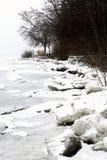 El lago Balatón en invierno en Tihany Fotografía de archivo libre de regalías