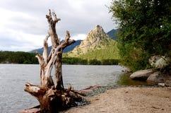 El lago Borovoe, indica el parque natural nacional Imagen de archivo libre de regalías