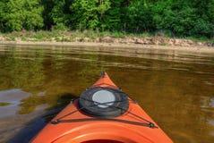 El lago bowstring es parte del nativo americano Reserva del lago leech foto de archivo
