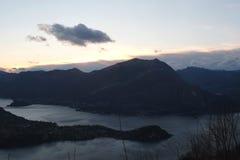El lago Como imagen de archivo libre de regalías