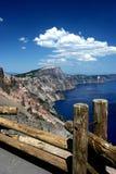 El lago crater pasa por alto Imagenes de archivo