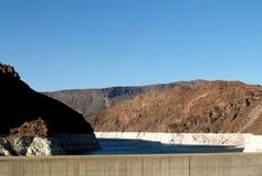 El lago dam de Hoover está consiguiendo un poco inferior Imagenes de archivo