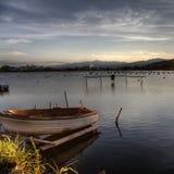 El lago de Ganzirri Foto de archivo libre de regalías