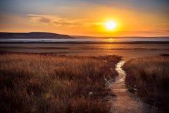 El lago de sal secado Foto de archivo libre de regalías