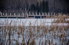 El lago del invierno,  Beijing fotografía de archivo