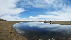 El lago del namtso en Tíbet Imagen de archivo libre de regalías