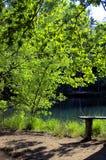 El lago en Europa Fotografía de archivo