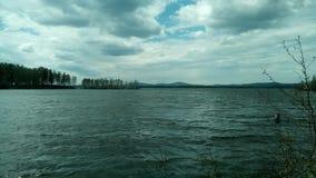 El lago en Rusia Foto de archivo