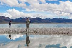 El lago en Tíbet Fotografía de archivo
