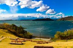 El lago Hamana en la prefectura de Shizuoka es el décimo lago más grande japan's Imágenes de archivo libres de regalías