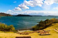 El lago Hamana en la prefectura de Shizuoka es el décimo lago más grande japan's Foto de archivo libre de regalías