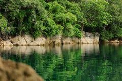 El lago hundido Foto de archivo libre de regalías