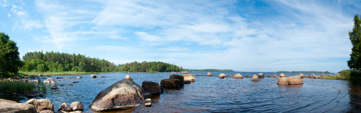El lago Innaren en Suecia Fotografía de archivo
