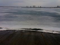 El lago, invierno va Imagen de archivo