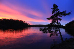 El lago Ladoga, Rusia Fotografía de archivo libre de regalías