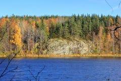 El lago Ladoga, Rusia Fotografía de archivo