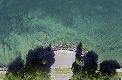 El lago Lemán en Suiza imagenes de archivo