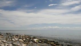 El lago más profundo del mundo Baikal Foto de archivo libre de regalías