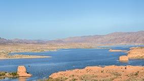 El lago Mead, Las Vegas pasa por alto, lago Mead National Recreation Area, nanovoltio Imagen de archivo