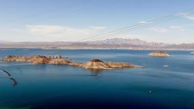 El lago Mead, tiro granangular panorámico