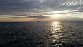 El lago Michigan hermoso imagenes de archivo