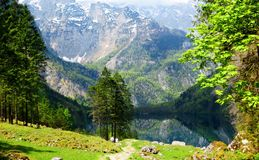 El lago ocultado Foto de archivo libre de regalías
