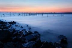 El lago por una mañana Imagenes de archivo