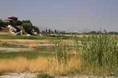 El lago se está secando Foto de archivo libre de regalías