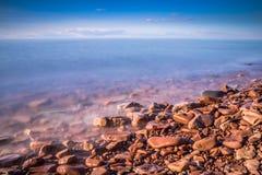 El lago Superior, macro-paisaje hermoso Imagen de archivo