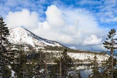 El lago Tahoe en invierno Fotos de archivo