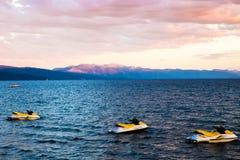 El lago Tahoe Jet Ski Foto de archivo