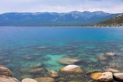 El lago Tahoe - puerto de la arena Foto de archivo
