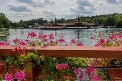 el lago termal Heviz, Hungría foto de archivo libre de regalías