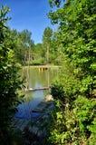 El lago Trasimeno está situado en el corazón verde de Umbría, Italia fotos de archivo