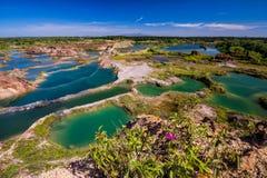 El lago verde Fotos de archivo libres de regalías