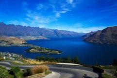 El lago Wakatipu Imagen de archivo libre de regalías