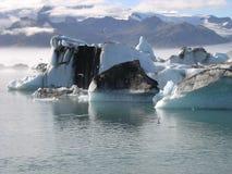 El lakeâ misterioso del âJokulsarlon en Islandia Imagen de archivo libre de regalías