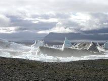 El lakeâ misterioso del âJokulsarlon en Islandia Foto de archivo
